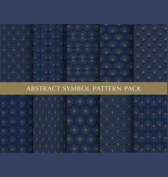 beautiful abstract pattern pack vector image