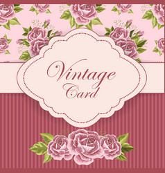 Beautiful vintage card vector