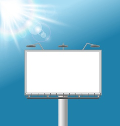 Billboard on sky background vector