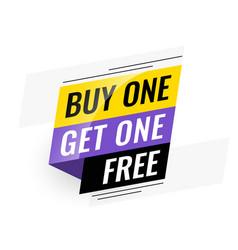 Bogo buy one get one free sale banner vector
