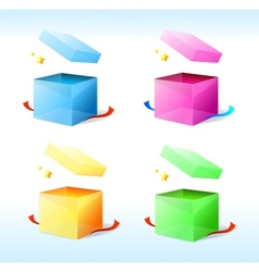 box with stars vector image
