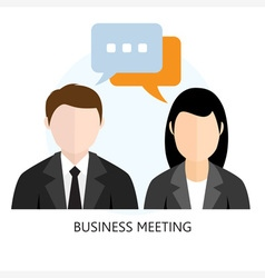 Business Meeting Icon Flat design vector