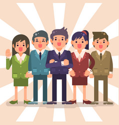 Business team with man and woman great teamwork vector