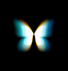 butterfly isolated logo bright colorful vector image