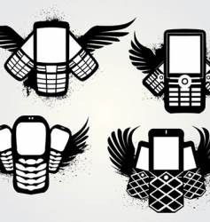 cell emblems grunge vector image