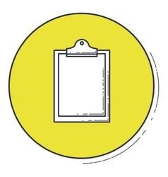 Checklist icon inside green button design vector