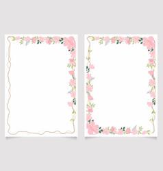 cherry blossom branch 5x7 invitation card vector image