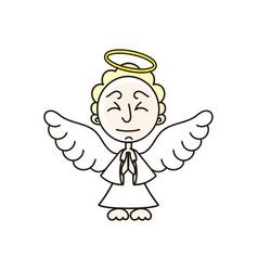 christmas angel decoration design vector image
