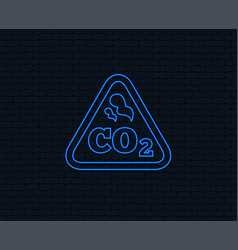Co2 carbon dioxide formula sign icon chemistry vector