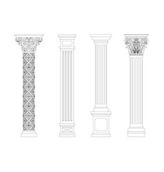 Contouring coloring of classical columns vector