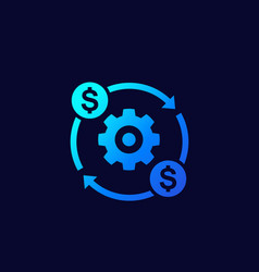 Costs optimization or production efficiency icon vector