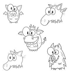 Creatures of fantasy vector image