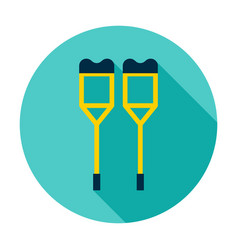 crutches circle icon vector image