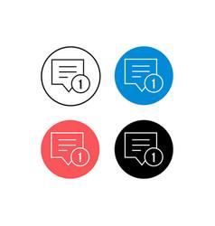 Design icon document notification vector