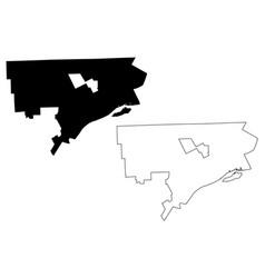Detroit city map vector