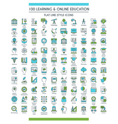 education icons big set vector image