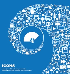 Fan icon Nice set of beautiful icons twisted vector