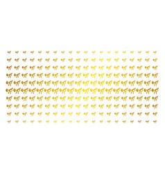 Fart gases gold halftone grid vector