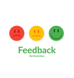 feedback concept emotions scale vector image