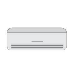 Flat color air conditioner icon vector