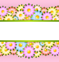 Flower card template vector