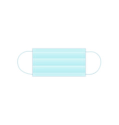 Folded surgical disposable mask vector