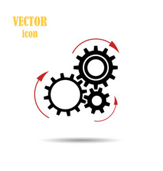Gear arrows pointing the direction of rotation vector