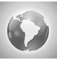 Globe with Mail vector image