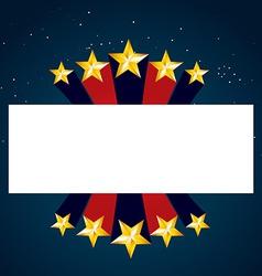 golden star design vector image