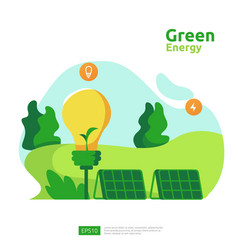 Green clean energy sources with renewable vector