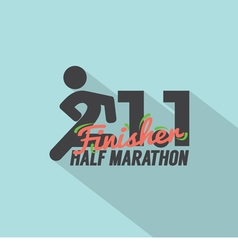 Half Marathon Finisher Typography Design vector