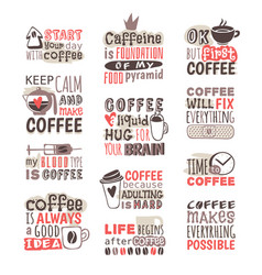 Hand drawn coffee badge vector