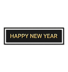 happy new year 2020 golden text with glitters and vector image