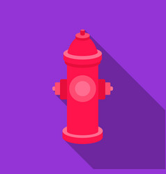 Hydrant icon in flat style for web vector