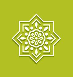 Islamic pattern arabic floral border vector