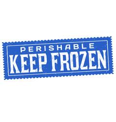 Keep frozen grunge rubber stamp vector