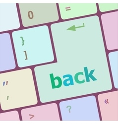 Keyboard with back text on button vector image