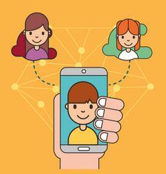 Kids social media vector