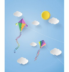 Kite on sky vector