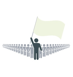 Leader and flag vector