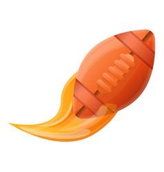 Leather american football ball icon cartoon style vector