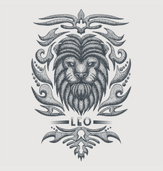leo zodiac vintage vector image
