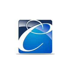 Letter c logo design template vector