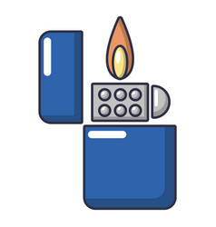 lighter icon cartoon style vector image
