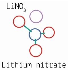 LiNO3 Lithium nitrate molecule vector image