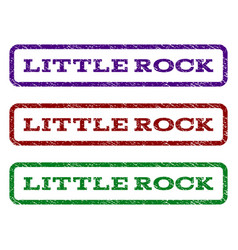 little rock watermark stamp vector image