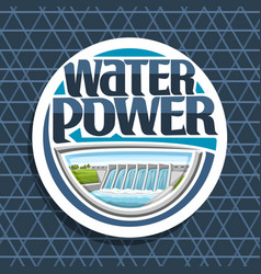 Logo for water power vector