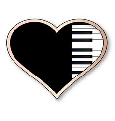 Love piano vector