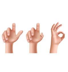 male or female hands with raised index finger and vector image