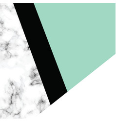 marble texture design with geometric shapes vector image